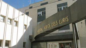 fachada entrada hospital virgen de los lirios de Alcoi