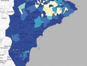 Mapa covid Comunidad Valenciana